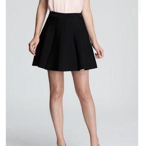 Express women pleated black skirt